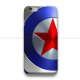Captain America Shield Blue Chrome iPhone Custom Cover Hard Cases