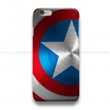 Captain America Shield Blue iPhone Custom Cover Hard Cases
