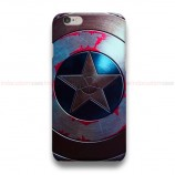 Captain America Shield Chrome iPhone Custom Cover Hard Cases