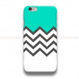 Chevron Striped tosca iPhone Custom Cover Hard Cases