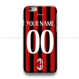 Custom Your Name And Number AC Milan  iPhone Custom Cover Hard Cases