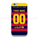 Custom Your Name And Number FC Barcelona  iPhone Custom Cover Hard Cases