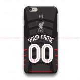 Custom Your Name And Number Liverpool UCL Black iPhone Custom Cover Hard Cases