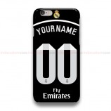 Custom Your Name And Number Real Madrid Black  iPhone Custom Cover Hard Cases