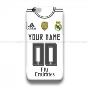 Custom Your Name And Number Real Madrid iPhone Custom Cover Hard Cases