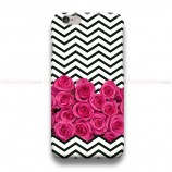 Floral Cevhron Stripes  iPhone Custom Cover Hard Cases