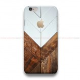 Geometric Wood Apple iPhone Custom Cover Hard Cases