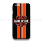 Harley Davidson Orange striped iPhone Custom Cover Hard Cases