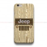 Jeep On Wood iPhone Custom Cover Hard Cases