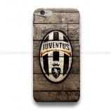 Juventus Logo On Wood iPhone Custom Cover Hard Cases