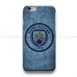 Manchester City Logo On Wall  iPhone Custom Cover Hard Cases