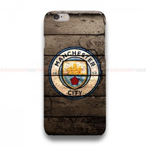 Manchester City Logo On Wood  iPhone Custom Cover Hard Cases