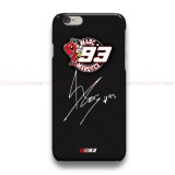 Marc Marquez Signature Carbon  iPhone Custom Cover Hard Cases