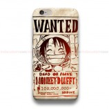 One Piece Vintage Wanted Poster  iPhone Custom Cover Hard Cases