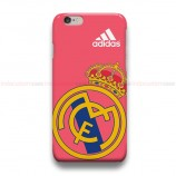 Real Madrid CF Logo Pink iPhone Custom Cover Hard Cases