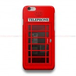Red Telephone Box  iPhone Custom Cover Hard Cases