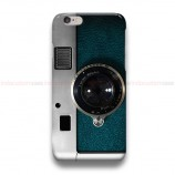 Retro Blue Teal Leather Silver Camera iPhone Custom Cover Hard Cases