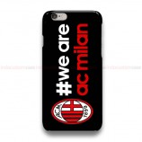We Are AC Milan Black iPhone Custom Cover Hard Cases