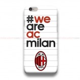 We Are AC Milan White iPhone Custom Cover Hard Cases