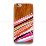 Wooden Geometric  iPhone Custom Cover Hard Cases