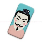Anonymous Cartoon Samsung Galaxy Cover Hard Case