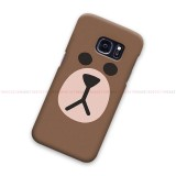 Brown Samsung Galaxy Cover Hard Case