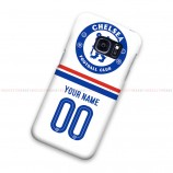 Custom Name And Number Chelsea White Samsung Galaxy Cover Hard Case