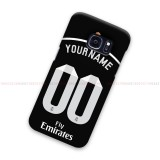 Custom Name And Number Real Madrid Black Samsung Galaxy Cover Hard Case