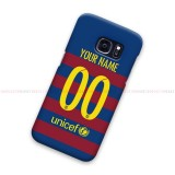 Custom Name Number FC Barcelona 2016 S Samsung Galaxy Cover Hard Case