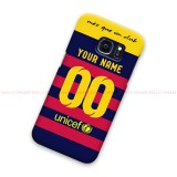 Custom Name Number FC Barcelona Samsung Galaxy Cover Hard Case