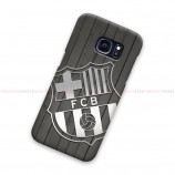 FC Barcelona Carbon Logo On Wood Samsung Galaxy Cover Hard Case