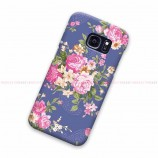 Floral Roses Blue Samsung Galaxy Cover Hard Case