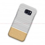 Glitter Gold Minimal Stripes Samsung Galaxy Cover Hard Case