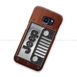 Jeep Logo On Wood Samsung Galaxy Cover Hard Case