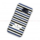 Kate Spade Black Blue Striped Samsung Galaxy Cover Hard Case
