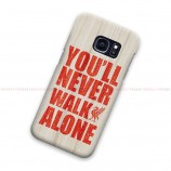 Liverpool You'll Never Walk Alone On Wood Samsung Galaxy Cover Hard Case