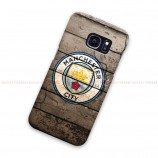 Manchetser City Logo On Wood Samsung Galaxy Cover Hard Case
