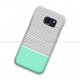 Minimal Mint Stripes Samsung Galaxy Cover Hard Case