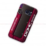 Mitsubishi Red Maroon Cover Samsung Galaxy Cover Hard Case
