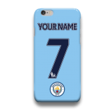 Manchester City Custom Your Name Number iPhone Custom Cover Hard Case